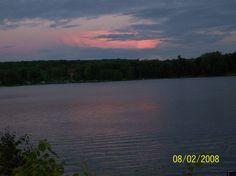 Sunset over Duck Lake Orrville Ont.