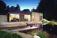 Outstanding New Forest Homes in UK: Amazing Architecture Forest House Design Exterior With Small Modern Home Shaped Decoration Ideas With Waterfountain Architecture Durable, Architecture Design, Residential Architecture, Beautiful Architecture, Green Architecture, Sustainable Architecture, Contemporary Architecture, Contemporary Design, Forest House