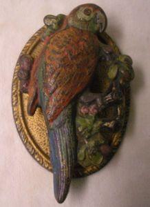 antique parrot door knocker