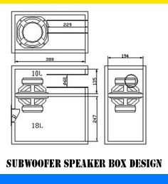 "Subwoofer Speaker box design. Using 5-6"" speaker. 