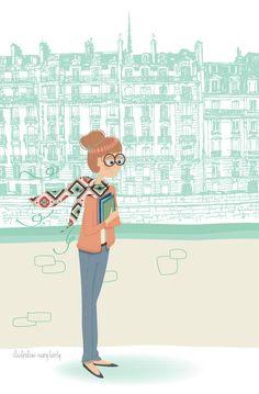 Etudiante + Mary Birdy + illustration + ilustração + student + estudante + erasmus