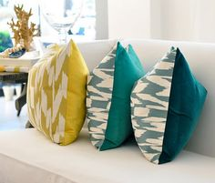 ikat pillows.  2 sided