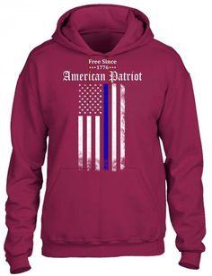 free since 1776 american patriot HOODIE