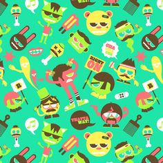 Background patterns are very useful in web design and even in print or textile designs.Here are some cool patterns from Behance for your inspiration. Cool Patterns, Print Patterns, Cool Backgrounds, Background Patterns, Textile Design, Illustration, Things To Think About, Character Design, Behance