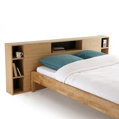 Biface Storage Headboard La Redoute Interieurs Be savvy with space with this perfect bedroom storage solution.Made with a light oak finish, this solid structure cleverly provides a stylish. Modern Bunk Beds, Modern Headboard, Headboards For Beds, Rattan Headboard, Trundle Bed With Storage, Bed Storage, Bedroom Storage, Storage Headboard, Bedroom Bed Design