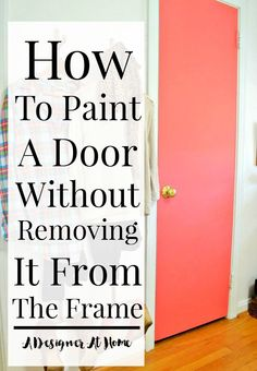 """You look at something and think, """"there's gotta be a… Painted Interior Doors, Painted Doors, Interior Paint, Painted Furniture, Diy Furniture, Painting Tips, House Painting, Painting A Door, Painting Walls"""