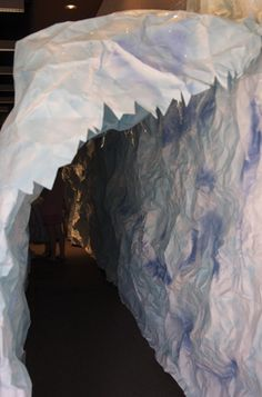 churcheventipedia.com - Arctic Freeze at a Summer Day Camp. Texture made with painted tissue would make great mountain peaks in hallway