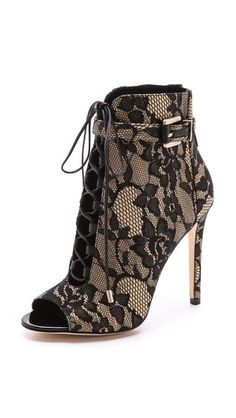 B Brian Atwood Open Toe Lace