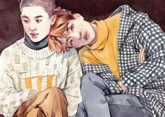 kaisoo fanart by: Abusedmember