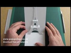 ▶ Pop Up Eiffel Tower Card Tutorial - Origamic Architecture - YouTube template here http://www.popupology.co.uk/uploads/item/pdf/112/eiffelA4.pdf