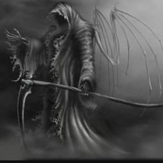 heres yet another version of the Grim Reaper. I decide to do this because my old version seemed to have more favorites than any of my other pics. Angel of Death AKA Grim Reaper Grim Reaper Art, Don't Fear The Reaper, Dark Fantasy Art, Dark Art, Fantasy Artwork, Reaper Tattoo, Skull Artwork, Angels And Demons, Tatoo