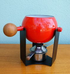 Vintage Danish Modern Fondue Pot with Stand by thevintagesupplyco, $75.00
