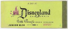 """disneyland ticket booklet wasn't around in but I sure do miss the the """"E"""" tickets at Disneyland. Link shows photos of other Disney tickets Old Disney, Disney Love, Disney Magic, Disney Stuff, Disney Parks, Walt Disney World, Disney Pixar, Disneyland California, Vintage Disneyland"""
