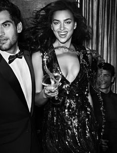 "Irina Shayk in ""Black & White"" for Vogue Mexico, October 2014"