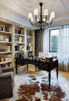 Home office desk classic Super Ideas – Chic Home Office Design Home Office Space, Home Office Desks, Home Office Furniture, Luxury Furniture, Classic Office Furniture, Office Rug, Small Office, Furniture Outlet, Furniture Stores