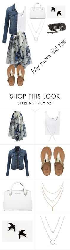 """""""My mother picked this outfit"""" by fairylights112233 on Polyvore featuring Chicwish, Splendid, LE3NO, FitFlop and Michael Kors"""