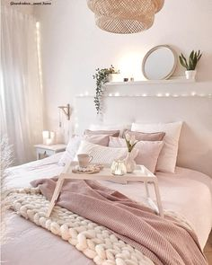 Pink Bedroom For Girls, Room Tour, Bedroom Inspo, Pink Aesthetic, Sweet Home, Future House, Decorating Your Home, Shabby, Relax
