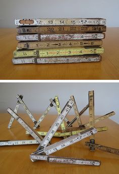 vintage folding rulers...I wish I would have saved my grandparents