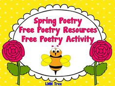 Spring Poetry: Free Poetry Resources and a Free Spring Poetry Activity #spring #poetry #eudcation