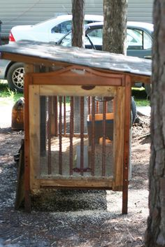 Upcycled Crib to Quail Coop | The Happier Homemaker