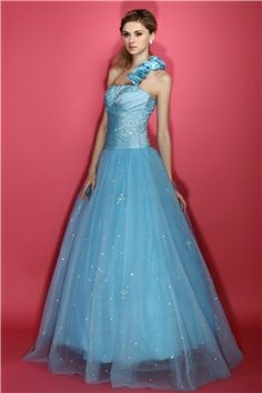 New Style A-line Floor-Length One-Shoulder Dasha's Quinceanera Dress