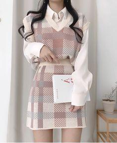 Korean Girl Fashion, Ulzzang Fashion, Kpop Fashion Outfits, Korean Outfits, Girly Outfits, Cute Casual Outfits, Pretty Outfits, Stylish Outfits, Kawaii Fashion