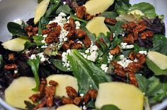 ABC Salad (Apples, Blue Cheese & Candied Pecans) by alagraham #Salad #alagraham #Apple_Blue_Cheese_Pecan_Salad #alagraham