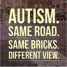 Think of #autism as a different view. #autismcanada #autismawareness #asd #Aspergers