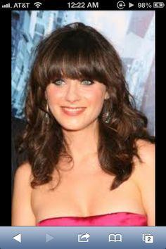 Zooey DeChanel. Love her hair!