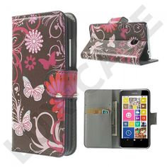 Moberg (Sommerfuglar & Blomster) Nokia Lumia 630 / 635 læretui