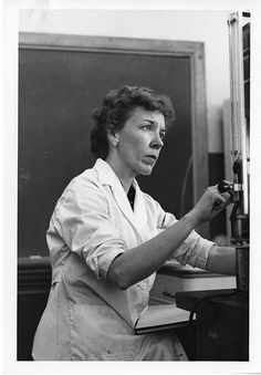 Mary Alice McWhinnie (1922-1980) was a professor of biology at DePaul University and a world-renowned authority on krill when she began working on research ships off-shore in 1962, when this photograph was take, by Unidentified photographer, Black and white photographic print, Smithsonian Institution Archives, Acc. 90-105 - Science Service, Records, 1920s-1970s, SIA Acc. 90-105 (SIA-SIA2008-5737).