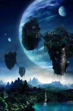 "Avatar"" A spectacular world beyond imagination ❤️❤️❤️ Fantasy Art Landscapes, Fantasy Landscape, Fantasy Artwork, Beautiful Landscapes, Space Fantasy, Fantasy Places, Fantasy World, Pandora Avatar, Avatar Poster"
