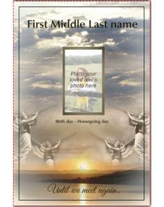 Heavens Angels Template Front Panel