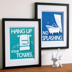 Childrens Bathroom Art Prints