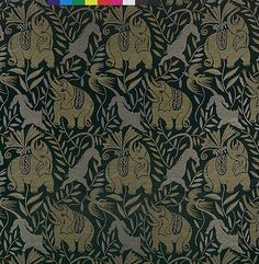 """La Jungle"" (The Jungle) Raoul Dufy  Manufacturer: Bianchini-Férier (French, founded Lyons, 1888) Date: 1922 Medium: Silk, wool Accession Number: 23.14.4"