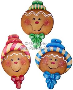 The Decorative Painting Store: Gingerbread Candy Stripers Ornaments, Newly Added Pattern Packets