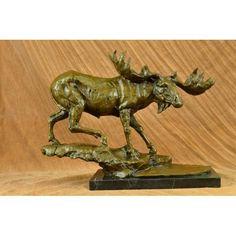3 Brown Bears Bronze Sculpture Hot Cast  White Marble Base Figurine Art Deco T