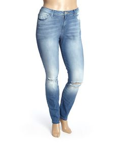Another great find on #zulily! Vintage Wash Skinny Jeans - Plus #zulilyfinds