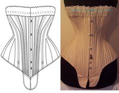 REF S paper pattern and pictures for by AtelierSylphecorsets, $38.00