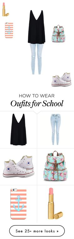 """A day in the life of a middle schooler"" by hammiegrl on Polyvore featuring STELLA McCARTNEY, Converse, Too Faced Cosmetics, Candie's and Casetify"