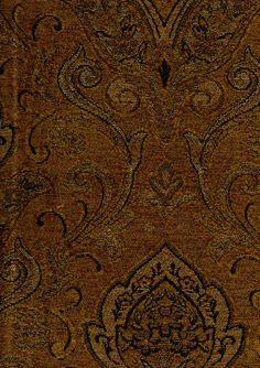 Upholstery Fabrics - Paisley - Burl 5358 By Barrow/Merrimac Fabrics