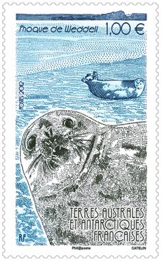 French Southern &  Antarctic  Stamp - Phoque de Weddell