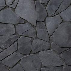 Bedrock Random Sized Concrete Composite Rock Exterior Tile in Vancouver Pebble Mosaic Tile, Stone Tiles, Stone Look Tile, Exterior Tiles, Black Background Wallpaper, Decorative Pebbles, Flat Stone, Tiles Texture, Stone Tile Texture