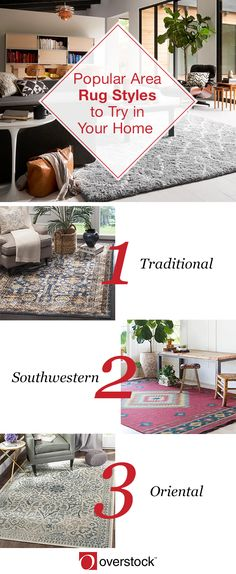 Choosing the right area rug can be a process, but the perfect one will be eye-catching and serve your home well for years to come. Click to find some of the most common area rugs styles to take your home décor to the next level.