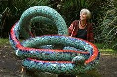 snake sculptures garden - Google Search