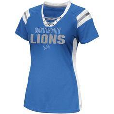 best service fabc9 68f7e Detroit Lions Ladies Draft Me VI Fashion T-Shirt - Light Blue Detroit Lions  Gear