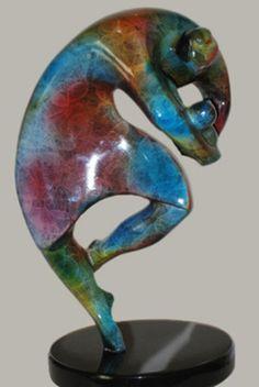 Bronze Human Figurative #sculpture by #sculptor Esther Wertheimer titled: 'Maternity' #art