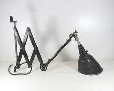 Lampada a PANTOGRAFO Scissor Wall Lamp MIDGARD Industrial-chic Curt Fischer
