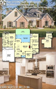 Architectural Designs House Plan 51701HZ built in Mississippi | 3+ BR | 2+ BA | 2,500+ sq. ft.| Ready when you are. Where do YOU want to build? #51701HZ #adhouseplans #architecturaldesigns #houseplan #architecture #newhome #newconstruction #newhouse #homedesign #dreamhome #dreamhouse #homeplan #architecture #architect #housegoals #clientbuilt #client #acadian #eruopean #frenchcountry