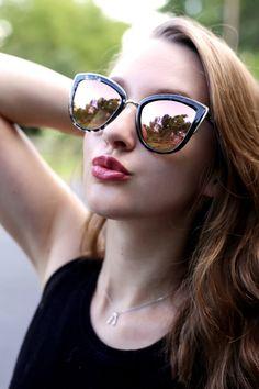 "Quay Australia ""My Girl"" sunglasses in black tortoiseshell and pink"